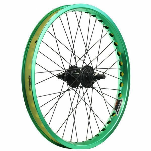 Buy Bmx Bike Wheels Wheelset Wide Rim Green Cd
