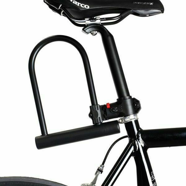buy bicycle bike cycling u lock with key 180x245mm cd. Black Bedroom Furniture Sets. Home Design Ideas
