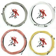VENZO Braided Bike Brake Cables Set With Housing For Shimano Sram