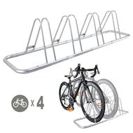 1 - 4 Bike Floor Parking Rack Storage Stand Bicycle
