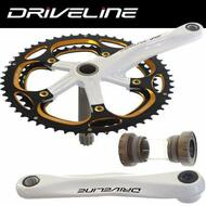DRIVELINE Road Bike Crankset Shimano Compatible 46-56 172.5mm