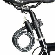 Bicycle Bike Cycling Lock With Key 8x1800mm