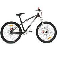 "Reckless DIRT AL BMX Bike with Aluminium Frame Alloy Wheels 24"" Black"