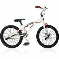"Reckless MEANIE PRO BMX Bike with Aluminium Frame Alloy Wheels 20"" White"