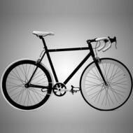 HASA Track Fixie Single Speed Road Bike 56cm