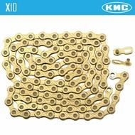 KMC X10 Light Chain Ti & Gold for Shimano Sram 10 Speed