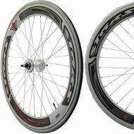 Fixie Single Speed Road Bike Track Wheel Wheelset 60mm Deep V Sealed White