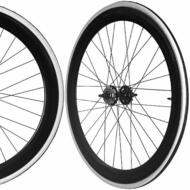 Fixie Single Speed Road Bike Track Wheel Wheelset Sealed + Tyres Black