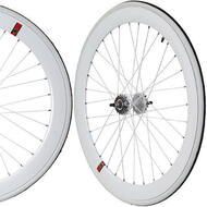 Fixie Single Speed Road Bike Track Wheel Wheelset Sealed + Tyres White