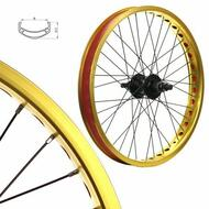 Alloy BMX Bike Wheels Wheelset Narrow Gold