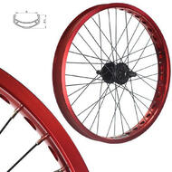 Alloy BMX Bike Wheels Wheelset Narrow Rims Red