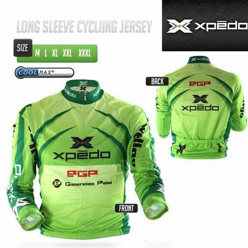Wellgo/Xpedo Long Sleeve Cycling Bicycle Jersey M/L/XL/XXL/XXXL