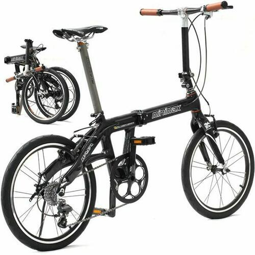 Hasa Full Carbon Folding/foldable Bike 9 Speed 20 Inch