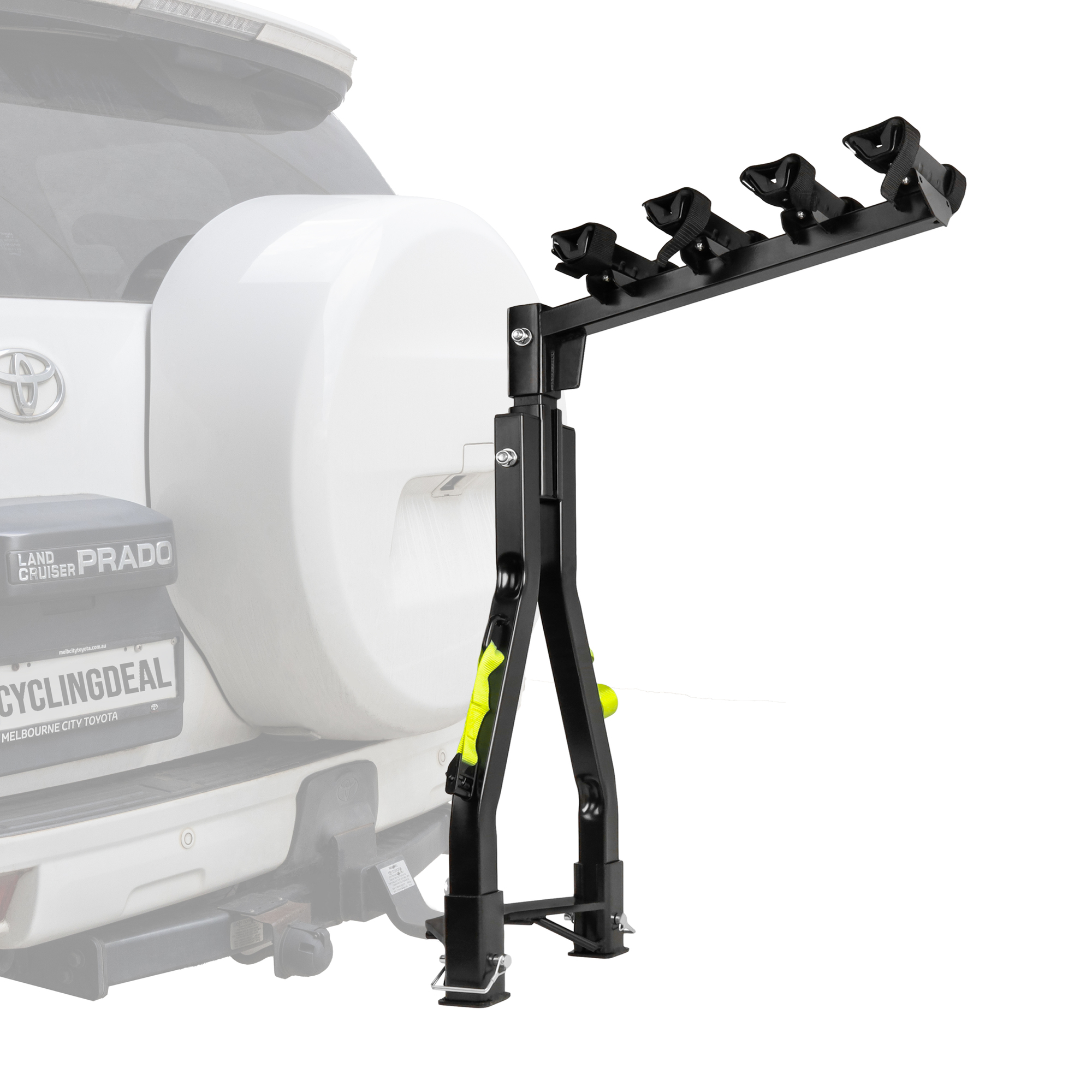 Buy A Frame Twin Pole 4 Bike Bicycle Tow Ball Car Rack