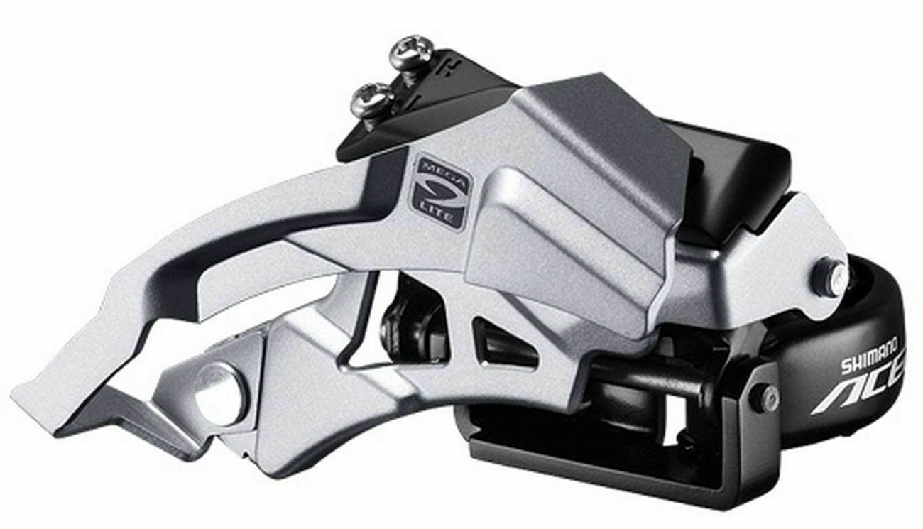 Shimano Tourney TY500 6//7-Speed Triple Top-Swing Dual-Pull Front Derailleur