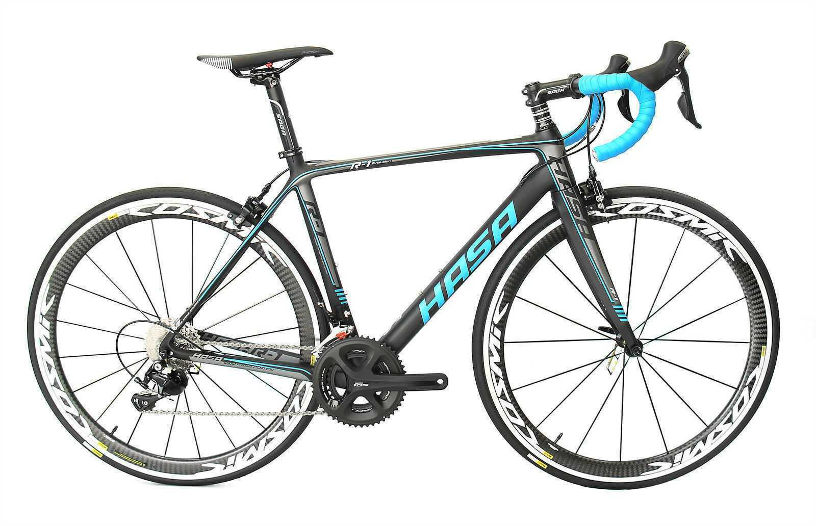 HASA R1 Shimano 105 with Mavic Cosmic  Wheelset Carbon Road Bike 53cm