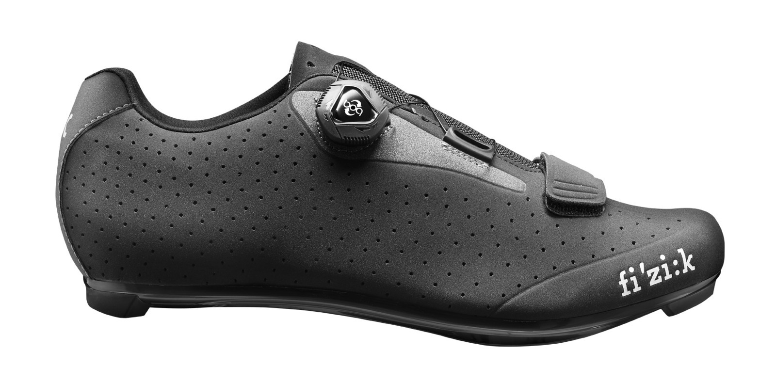 Fizik R5 UOMO BOA Road Cycling Shoes Black/Dark Gray 42.5