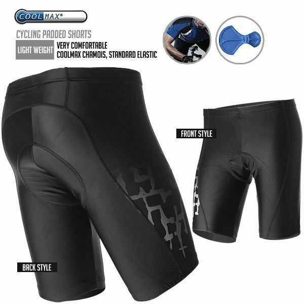 CDEAL Bike Bicycle Cycling Padded Shorts XL