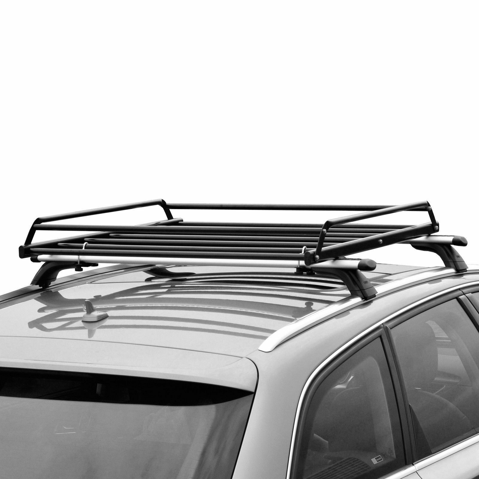Car Roof Rack >> Basic Car Roof Tray Platform Rack Carry Box Luggage Carrier Basket