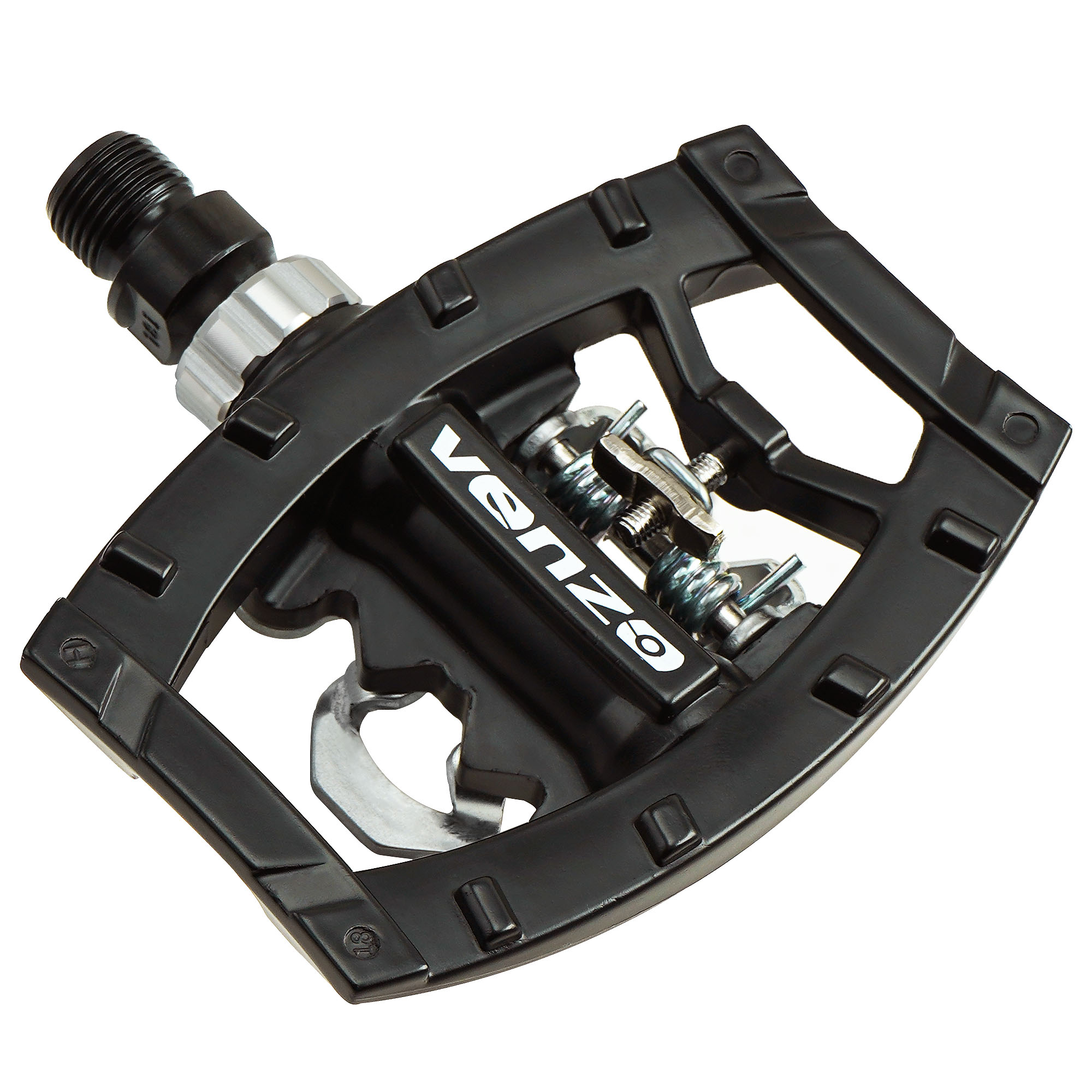"Venzo Dual Function Platform Shimano SPD Road Touring  9/16"" Pedals Black with Cleats"