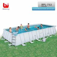 "BESTWAY Above Ground Steel Frame Swimming Pool 24' x 12'x52"" with Sand Filter"