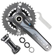 SR Suntour MTB Bike Crankset Zeron 2X 24-38T 175mm with BB Shimano Sram 10 Speed