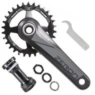 SR Suntour MTB Bike Crankset Zeron 1X 30T 175mm with BB 10/11 Speed