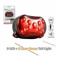 Sansai Bicycle Laser Tail Light Water Resistant LED Flashing Night Bike Safety