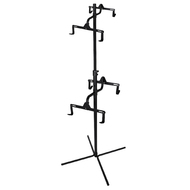 CyclingDeal 4 Bike Bicycle Vertical Hanger Parking Rack Gravity Floor Storage Stand for Garages or Apartments