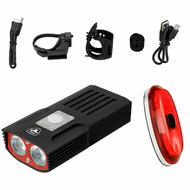 Antusi S6 A1S Bike Bicycle Aluminum T6 1000 Lumen Headlight and Taillight Set