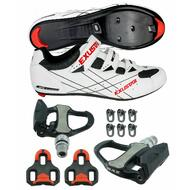 E-SR493 Road Bike Shoes VENZO Look Keo Pedals & Cleats