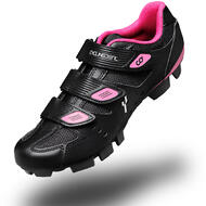 CyclingDeal Mountain Bicycle Bike Women's MTB Cycling Shoes Black Compatible with SHIMANO SPD and CrankBrothers Cleats