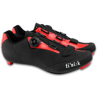 Fizik 2017 R5B Uomo SPD-SL Road Carbon Shoes Black Red with Venzo Pedals Set