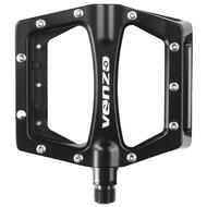 "Venzo Flat BMX Mountain Bicycle 9/16"" CR-MO Axle Pedals With Reflector Black"