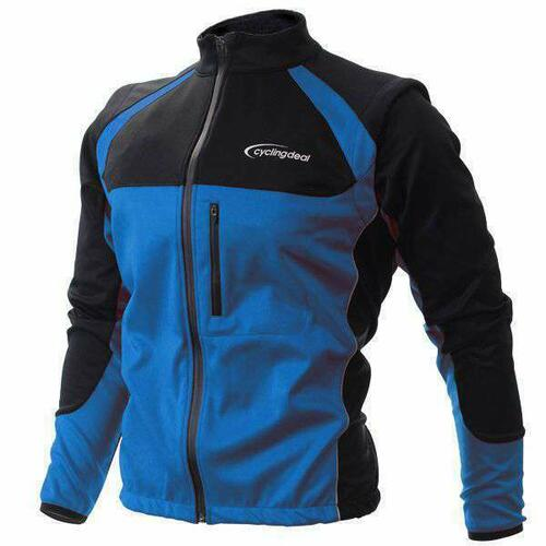 Cycling Bicycle Bike Jersey Wind Rain Jacket Vest Blue L