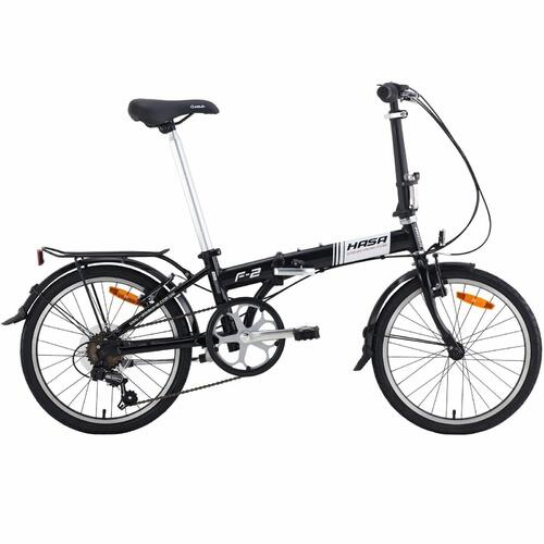 Hasa Folding Foldable Bike Shimano 6 Speed Black