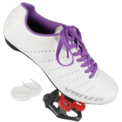 Venzo Women Road Bike For Shimano SPD SL Look Cycling Bicycle Shoes 44